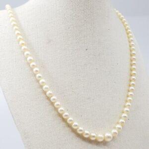 Mikimoto Graduated Pearl Strand Necklace 40cm #a9799