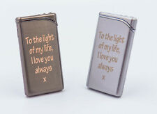 THIN new classic gas lighter PERSONALISED - Engraved - WEDDING Christmas GIFt