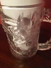 McDonalds BATMAN, Batman Forever GOTHAM 3D Clear Glass Mug Cup1995 DC Comics USA