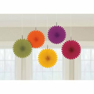 Colors of Autumn Fall Thanksgiving Holiday Party Hanging Mini Fan Decorations