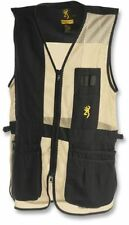 Browning Trapper Creek Mesh Shooting Vests, Black/Tan, L, Right Hand 3050268903