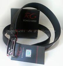 Cintura uomo ROMEO GIGLI vera pelle effetto pixel color nero 120cm accorciabile