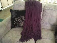 Cynthia Rowley Ruffled Throw Purple