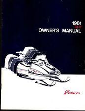 Vintage 1981 Polaris Tx-C Snowmobile Owners Manual New P/N 9910680 (418)