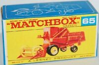 Matchbox Lesney No 65 Claas Combine Harvester empty Repro Box style E