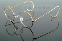 Vintage Round Antique Wire Rim Eyeglass Frames Glasses Spectacles 42 44 46 48 50