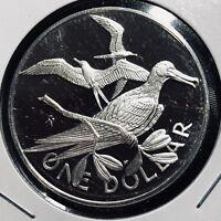 1973 BRITISH VIRGIN ISLANDS $1 SILVER PROOF DOLLAR CROWN