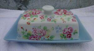 Cath Kidston spray flowers ceramic butter dish