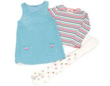 NEXT Fleece-Kleid, Langarm-Shirt und Strumpfhose - 110
