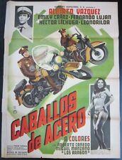 """""""Caballos de Acero"""" - Orig. Theatr. Poster, 1967 / 36 7/8"""" x 27 1/8"""", G to VG"""