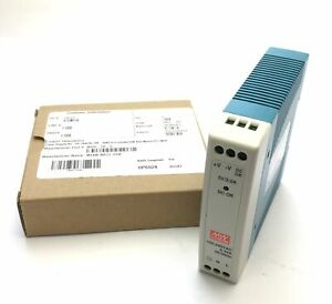 New Meanwell MDR-10-5 Power Supply, In: 85-264VAC 120-370VDC 0.33A, Out: 5V 2A