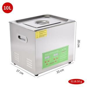 10L Digital Ultrasonic Ultraschallreinigungsgerät Ultraschall Cleaner Reiniger