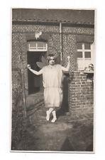 PHOTO ANCIENNE Déguisement Fille Déguisée Papillon Curiosité Drôle 1930 Robe