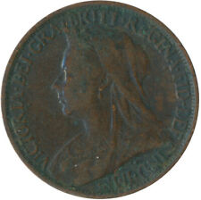 1901 ONE FARTHING OF QUEEN VICTORIA / VERY NICE COLLECTIBLE COIN #WT5337