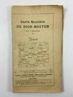 TABLEAU D ASSEMBLAGE CARTE ROUTIERE DE DION BOUTON TOURS LOUIS THEUVENY H1194