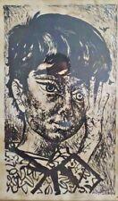 Rare ANTONIO BERNI Lithograph.  Juanito Laguna Signed by Artist - Fedex 174/200
