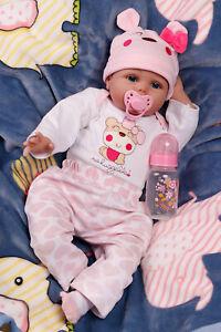 Real Lifelike Reborn Newborn Baby Dolls Silicone Vinyl Girl Doll for Kids&Elders