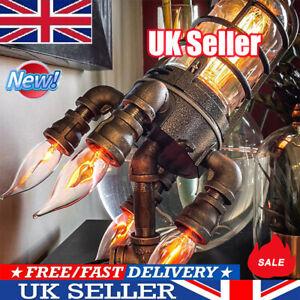 Retro Rocket Light Steampunk Style Table Lamp Night Light Decor New UK STOCK
