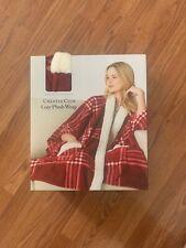 Womens CHARTER CLUB Red Plaid Cozy Plush Wrap With Pockets! NWT