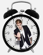 "Justin Bieber Alarm Desk Clock 3.75"" Home or Office Decor E318 Nice For Gift"