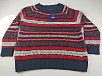 CHAPS Women's Multi Colored long Sleeve Striped Crewneck Sweater Sz. XXL