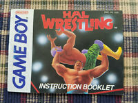 Hal Wrestling - Authentic - Nintendo Game Boy - Manual Only!