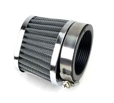 2FastMoto Steel Wire Mesh Power Filter Oval 60MM Chrome Clamp-On Offset Flange