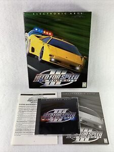 Need for Speed III: Hot Pursuit (PC, 1998) Big Box NFS 3 EA Electronic Arts RARE