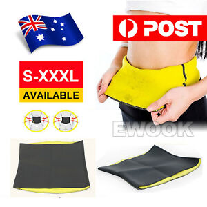 Hot Fit Body Shaper Slimming Belt Waist Trainer Tummy Trimmer Sweat Fat Burn OZ