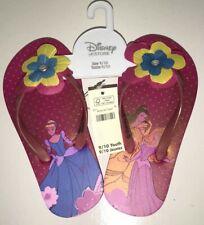 Disney Store Princess Belle Cinderella Flip Flops Sandals Shoes Girl Size 9/10