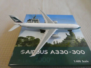 PHOENIX 1:400 CATHAY PACIFIC - A330-300 B-LBB-1000TH AIRBUS A330 (READ) *issues*