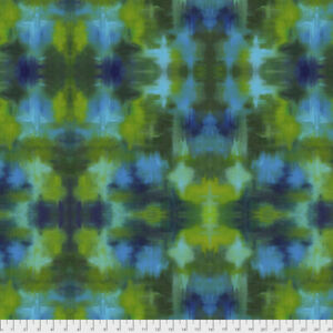 Garden Bright - Terrace Free Spirit Cotton Quilt Fabric PWSP005  Garden Blue