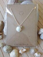 Sea shell heart beach silver necklace ocean mermaid Birthday Valentines gift