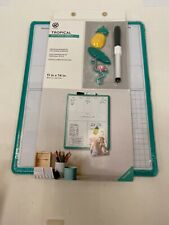 "Dry Erase Board Weekly 11"" By 14"" New W/ Marker & 3 Magnets Easy Mount~ Tropical"