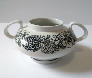 Wildwood Staffordshire England Hand Engraved Ironstone Sugar Bowl No Lid Sears