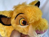 "Disney Parks Simba Lion King Pillow Pet Plush 20"" Soft Fluffy Stuffed Animal Toy"