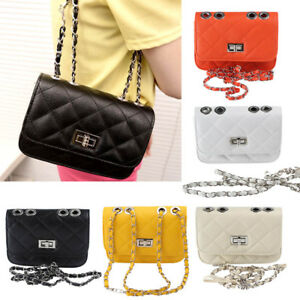 Girl Women Faux Leather Purse Handbag Ladies Small Chain Cross Body Shoulder Bag