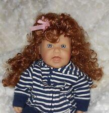 Bell *Melanie* Doll Wig SZ 12/13 Auburn~Lots of Long Curls ~Full Cap~Modacrylic