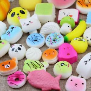 LOVEU Random 1PCS Cute Squishy Mixed Jumbo Medium Mini Random Soft Phone Straps
