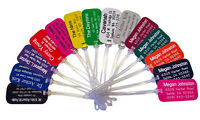 TEN Personalized Engraved LUGGAGE Backpack Golf Bag Sports ID TAGS 18 Colors