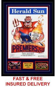 2021 MARK KNIGHT MELBOURNE DEMONS AFL GRAND FINAL HERALD SUN POSTER GAME PHOTOS*