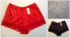 98d704e05b42 NEW LADIES PLUS SIZES 10-28 ELEGANT SATIN SILKY FEEL LACE EDGE FRENCH  KNICKERS