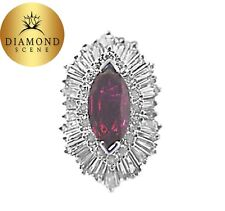 RUBY MARQUISE SHAPE 11.05X5.80X2.60MM DIAMOND RING