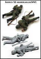 1/35 Killed German SS Soldier WW2 Figure Unpainted Unassembled Resin Kit
