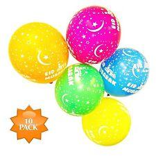 Happy Eid Mubarak Balloons - (Eid Mubarak Design) 10 Pack Premium Helium Quality