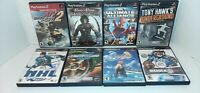 Lot of 8 PS2 Sony PlayStation 2 Video Games With Original Cases Two Marvel More