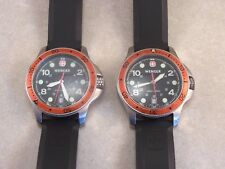 Men's Wenger 7245X/T Swiss Made 200M S/S 12/24 Hour Dial Watches w/Date @ 6