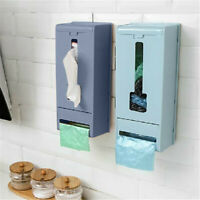 Wall Mounted Garbage Finishing Storage Box Home Kitchen Removable Plastic Bag