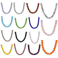 14x10mm Faceted Glass Crystal Rondelle Beads Loose Spacer Beads 42 Colors 10pcs