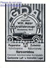 Auto Meier Brandenburg XL Reklame 1926 GDA Brennabor Hansa Lloyd Karosseriebau +